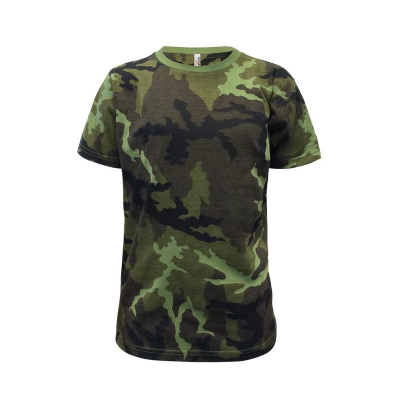 Velmi kvalitní dětské tričko, které potěší nejen malé táborníky, ale udělá radost i rodičům, protože pokud si ho děcka oblečou, rodiče je v lese celý den neuvidí. Jen pozor na myslivce.  Kvalitní pletenina je opatřena trvanlivým potiskem a pro perfektní pocit při nošení je opatřena silikonovou úpravou. Průkrčník z žebrového úpletu s přídavkem elastanu.