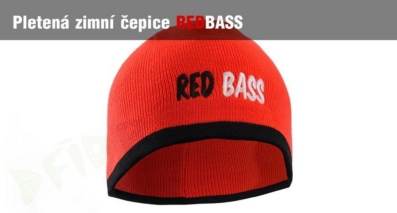 7a51db1e906 Zimní pletená čepice REDBASS - červená