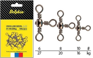 Obratlík Delphin Rolling Cross-Line Swivel A03 / 10ks