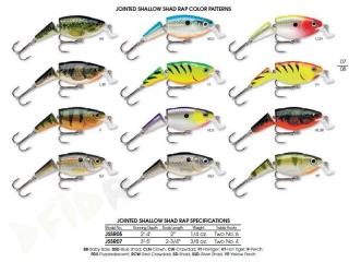 Wobler RAPALA Jointed Shallow Shad Rap 07