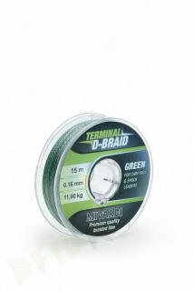 Šňůra MIVARDI Terminal D-Braid Green - 15m/0,26mm/ 22,70kg